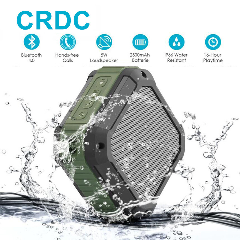 CRDC Bluetooth Speaker Subwoofer Powerful IP65 Waterproof Mini Portable Wireless Music Speakers for Outdoor Phone mymei groupie mini speaker portable bluetooth mp3 no high fidelity high wire subwoofer active low outdoors free music speaker for