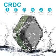Crdc Bluetooth Динамик Мощный сабвуфер IP65 Водонепроницаемый мини Портативный Беспроводной музыка Колонки для Открытый телефон