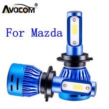 Светодиодная лампочка в автомобиль светодиодный, 2 шт., H1, H7, H11, 12 В, 6500K, COB/светодиод, DOB, светодиодный автомобильный фонарь для Mazda, дань памяти/3/6/Millenia/Miata/MX 3/Protege/ MX 5/B2200