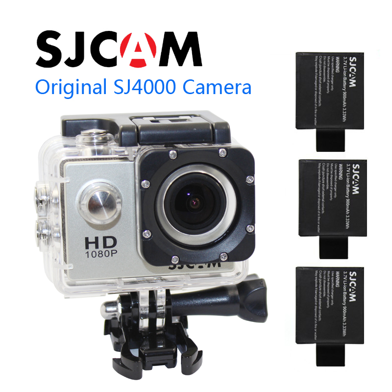 Free shipping!!SJCAM SJ4000 Full HD 1080P Waterproof Action Camera Sport DVR +Extra 2pcs battery фотокамеры и аксессуары sj 4000 camera sjcam sj4000 1 5 lcd dv dvr full hd 1080p