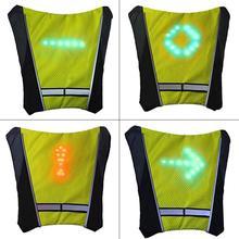 30 шт. светодиодные сигнальные лампы Предупреждение льный светильник безопасности светоотражающий жилет куртка беспроводной пульт дистанционного управления открытый водонепроницаемый h6
