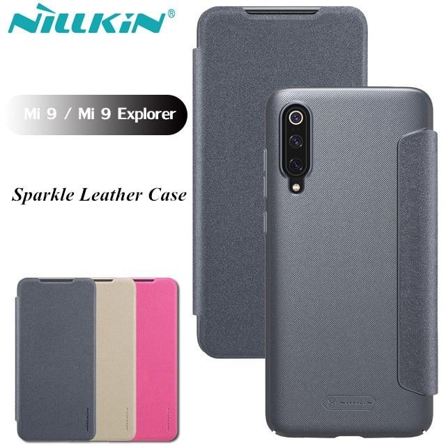 best website be2cf e34ec US $8.99 20% OFF|Nillkin Leather Case For Xiaomi Mi 9 Case Flip Full  Coverage Protection Cover For Xiaomi Mi9 Mi 9 Explorer Business Capinha-in  Flip ...