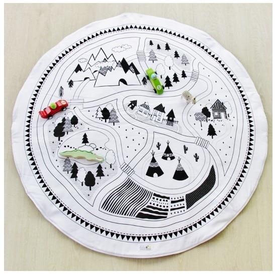 Kinderen Spelen Mat Cobertor Katoen Meisjes Jongens Spel Mat Rond - Speelgoed voor kinderen - Foto 4