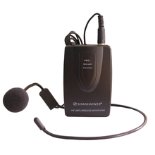 Professional wireless microphone transmitter receiver with headset for karaoke lectures computer recording portable clip on mic