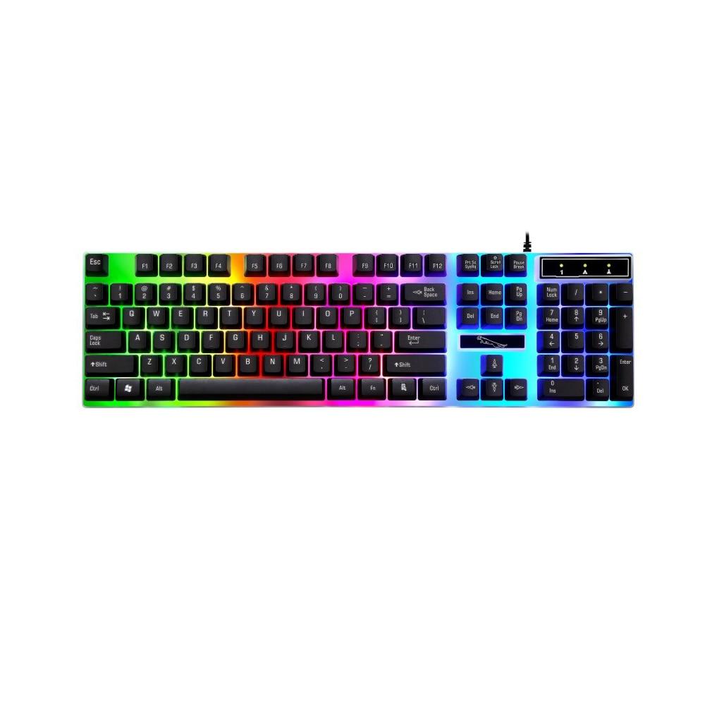 Mechanical Feeling Gaming Keyboard With Colorful Backlit Keyboard For Laptop Computer Keyboard Ergonomic