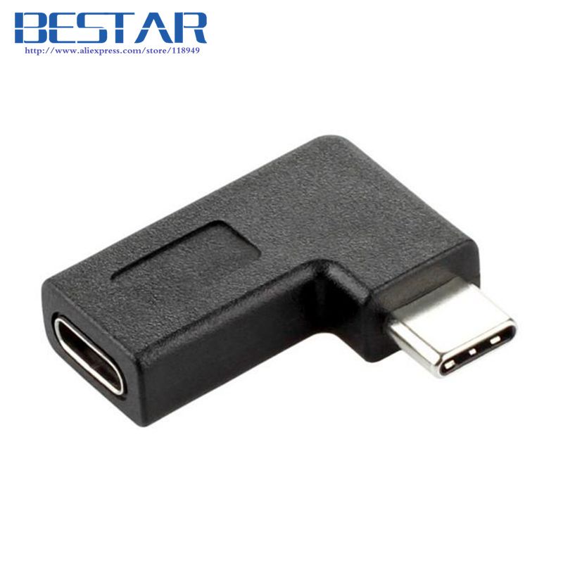 2017 NEW Right Angle USB 3.1 Type-C angled Adapter USB type c Male To Female Connector adapter USB-C USB3.1