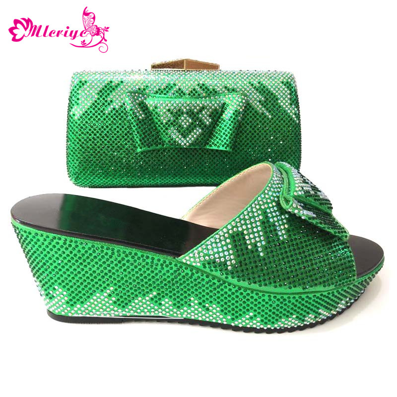 Italian Shoes with Matching Bag Nigerian Shoe and Matching Bag Women Shoe and Bag Set New Arrival green Color Shoe and Bag Set doershow italian shoes and bag set women shoe and bag to match for parties latest green color lady matching shoes and bag ul1 4