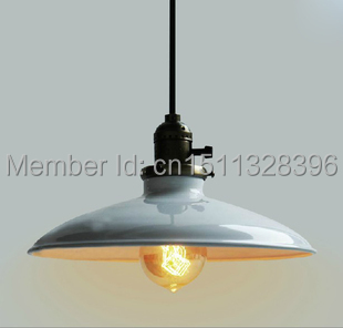Vintage Industrial Northern Europe Mini Antique Black/White Ceiling Light-- 1 Light Cafe Bar Store Hall Club Coffee Shop Decor 32cm vintage iron pendant light metal edison 3 light lighting fixture droplight cafe bar coffee shop hall store club