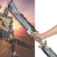 Thanos 1.1m Length Double edged Sword Cosplay Avengers Endgame Thanos Costume Accessory Thanos Infinity Gauntlet Halloween Props