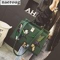 2017 вышивка женщины зеленые сумки известный дизайнер плечо сумки большой бренд дизайн сумки высокого качества женщины сумка почтальона сумочки