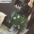 2017 embroidery women green tote bags famous designer shoulder bags big brand design handbags high quality women messenger bags