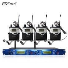 Sistema de monitor de ouvido sem fio com 4 receptor EM5012 Em monitor de Palco Ouvido Sistema de Monitor de 2 Canais sistema de Monitoramento no ouvido