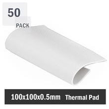 50 Pieces/lot 100x100x0.5 MM 100mm CPU GPU DIP IC Chip Cooling Heatsink Silicon 0.5mm Thermal Pad цена