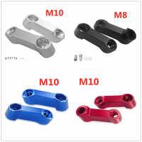 Für Honda CB400 VTEC CB1300 CB1100 CB500F CB600F Moto Teile 10 MM 8 MM Motorrad Rückspiegel Verlängerung Riser Verlängern adapter