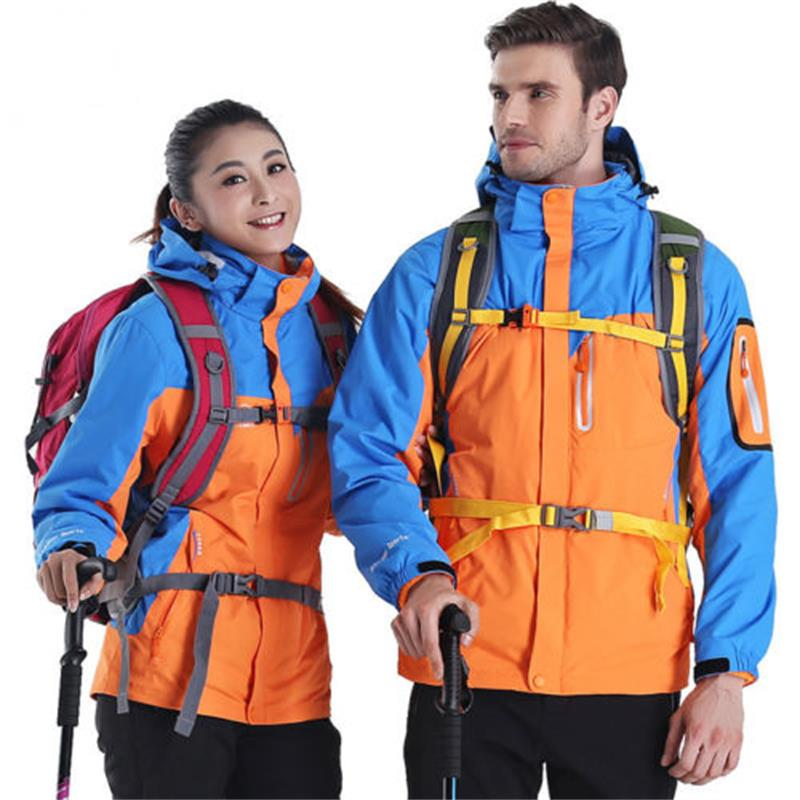 Winter Men Women Windproof Outdoor Ski Camping Hiking Jacket Outwear Warm Coat mens hooded thick warm winter down coat waterproof ski outwear hiking jacket plus size m 9xl windproof thermal camping men coats