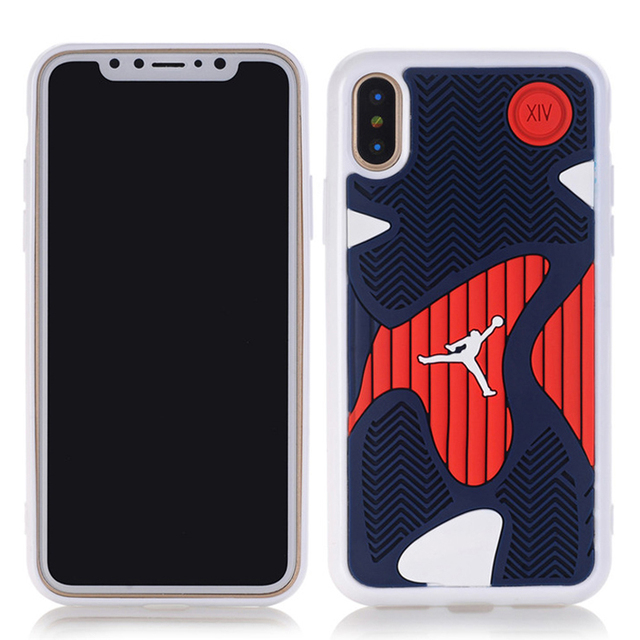 hot sale online 701e2 4eae7 US $4.1 18% OFF|Anti knock 3D Air Jordan Shoe Sole PVC+Rubber Cases For  iPhone X, AJ jumpman Back Cover Phone Cases,6 Patterns, Free Shipping-in ...