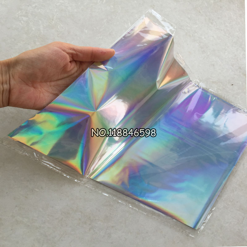 21x29cm A4 Size Transfer Hard Box and Plastic Material Laser Silver for 50 Pcs/lot Hot Stamping Foil Paper