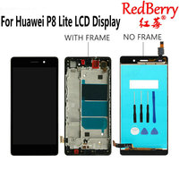Redberry 5 0 For Huawei P8 Lite LCD Display Touch Screen Digitizer Assembly With Frame Replacement