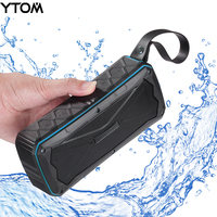 YTOM IPX6 Waterproof Bluetooth Speaker Wireless Outdoor Portable Speakers With Enhanced Bass Dual 8W Drivers A2DP