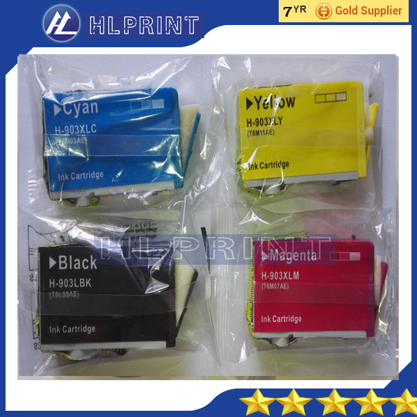 bk 20ml  4pk Compatible ink cartridge hp903xl 903xl for hp OfficeJet Pro 6950 6960 OfficeJet Pro 6970 All-in-One Printer