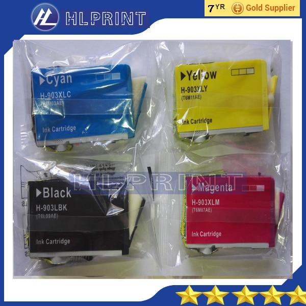 bk 20ml  4pk Compatible ink cartridge hp903xl 903xl for hp OfficeJet Pro 6950 6960 OfficeJet Pro 6970 All-in-One Printer 2pk for hp 61xl remanufactured ink cartridge bk