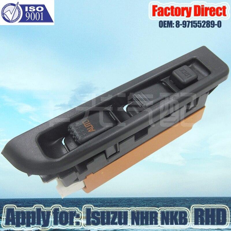 Factory Direct Auto Power Window Control Switch Apply For ISUZU NPR NKR Right Driver Side RHD 8-97155289-0