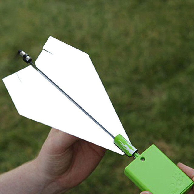 1Set Kids Toys Motor Electric Paper Airplane Model DIY Paper Power Educational Toy