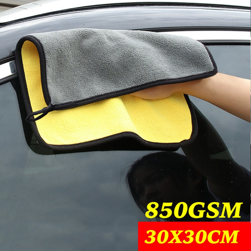 Car Care Wax Polishing Towels Microfiber Double-dimensional Velvet Washing Towel Thick Plush Microfiber Car Cleaning Cloths