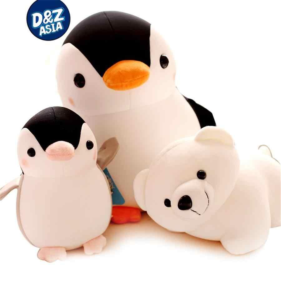محشوة أفخم الحيوانات البحرية رغوة الجسيمات دمية البطريق الدب القطبي أفخم دمية دُمى أطفال هدية