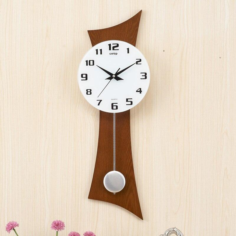 Wooden wall clock swing clock Saat Reloj Relogio de Parede Large Wall Clocks Horloge Murale Reloj de Pared Relogio Parede Clocks