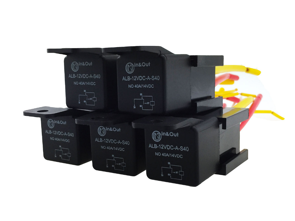 4 pin car auto 12v 40 a relay relays with bosch style s. Black Bedroom Furniture Sets. Home Design Ideas