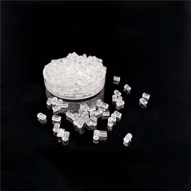 100pcs/Lot Clear Silicone Earring Stoppers 5