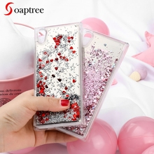 Glitter Liquid Cases for Sony Xperia XA2 Ultra Case Soft TPU For Sony XA2 XA1 L1 Z6 E6 Dual SM12 SM22 Silicon Cover fundas чехол sony scsh10 для xperia sm12 серебристый