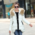 2016 winter jacket women slim thickening cotton-padded jacket outerwear large fur collar medium-long winter coat women parka