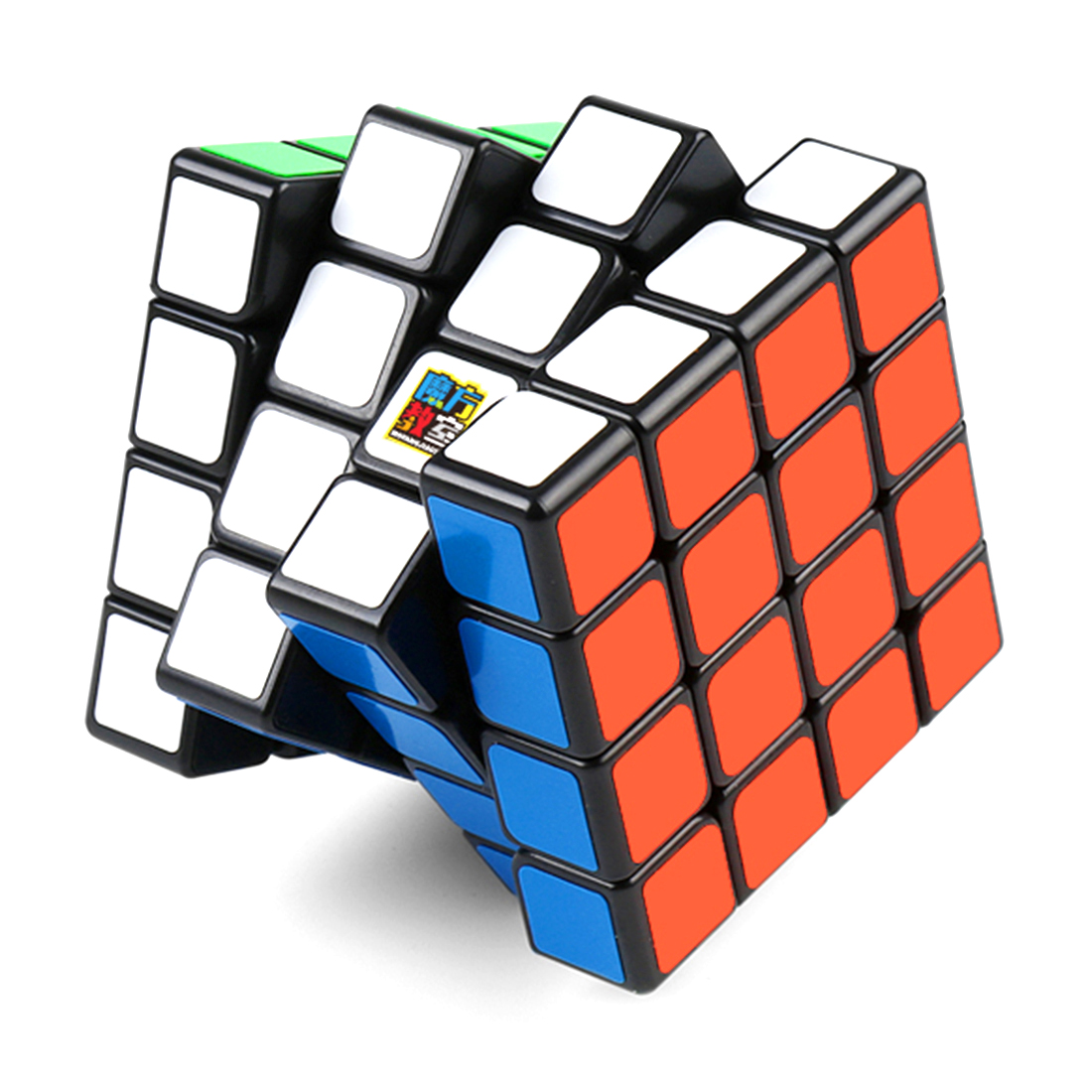 MoYu MF8840 MF4C 4x4 Magic Cube Speedcubing Puzzle for Beginner - Black-base shengshou 10x10x10 magic cube puzzle black and white and primary learning