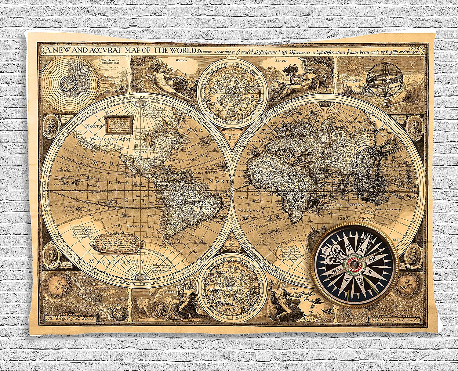 Detail Feedback Questions About Wanderlust Decor Tapestry Old Map