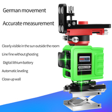 NEW  LND  12Lines 3D  Laser Level Self-Leveling 360 Horizontal And Vertical  Green laser недорого