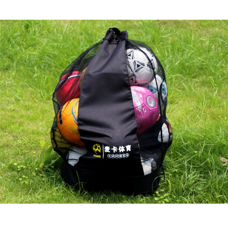 MAICCA Portable sac de balles de football Super grand pour sac à dos de volley-ball de basket-ball entraînement sportif transportant des sacs en filet
