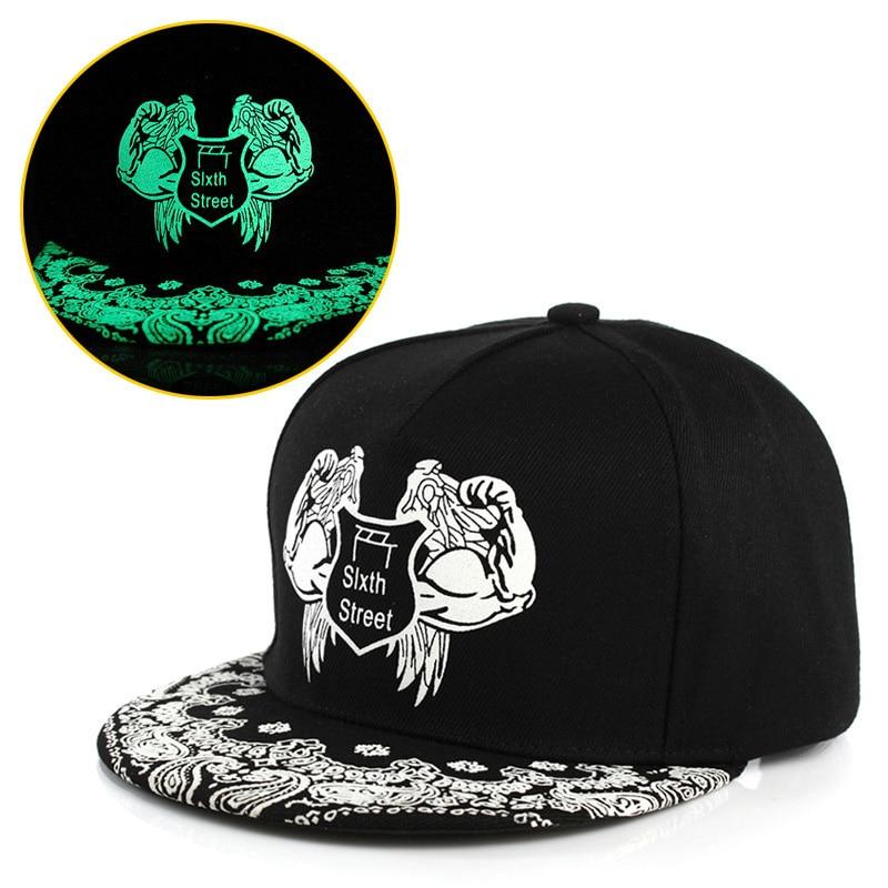 Men Women Fashion Fluorescence Light Baseball Cap Unisex Luminous Pattern Hip Hop Caps Boys Girls Polo Snapback Sport Hat CP0009 (11)