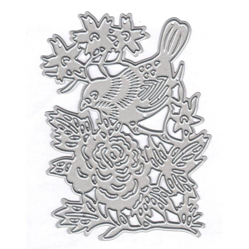 Eastshape Bird with Flower Metal Cutting Dies New 2019 for Craft Dies Scrapbooking Album Embossing Dies Paper Card Die Cut in Cutting Dies from Home Garden