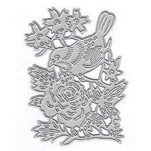 Eastshape Bird with Flower Metal Cutting Dies New 2019 for Craft Scrapbooking Album Embossing Paper Card Die Cut