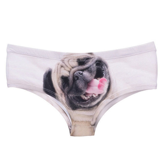 Women's Funny 3D Dogs Printed Low-Rised Panties
