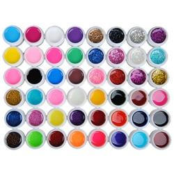 48PCS Color Pure+Transparent+Sequins UV Gel Glitter Nail Polish Manicure Gel Nail Art Semi Permanent Nail Gel Polish Varnish