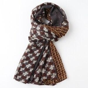 Image 4 - חתיכה אחת נשים פרחוני מודפס חיג אב צעיף oversize ויסקוזה צעיף ראש כורכת רך ארוך שבטי המוסלמי hijabs גנב