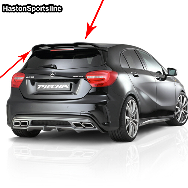 buy w176 a45 p styling frp primer car rear roof wing spoiler for mercedes benz. Black Bedroom Furniture Sets. Home Design Ideas