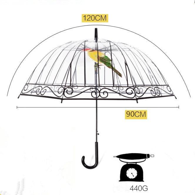 Transparenter Regenschirm Kreativer Vogelkäfig-Sonnenschirm - Haushaltswaren - Foto 4