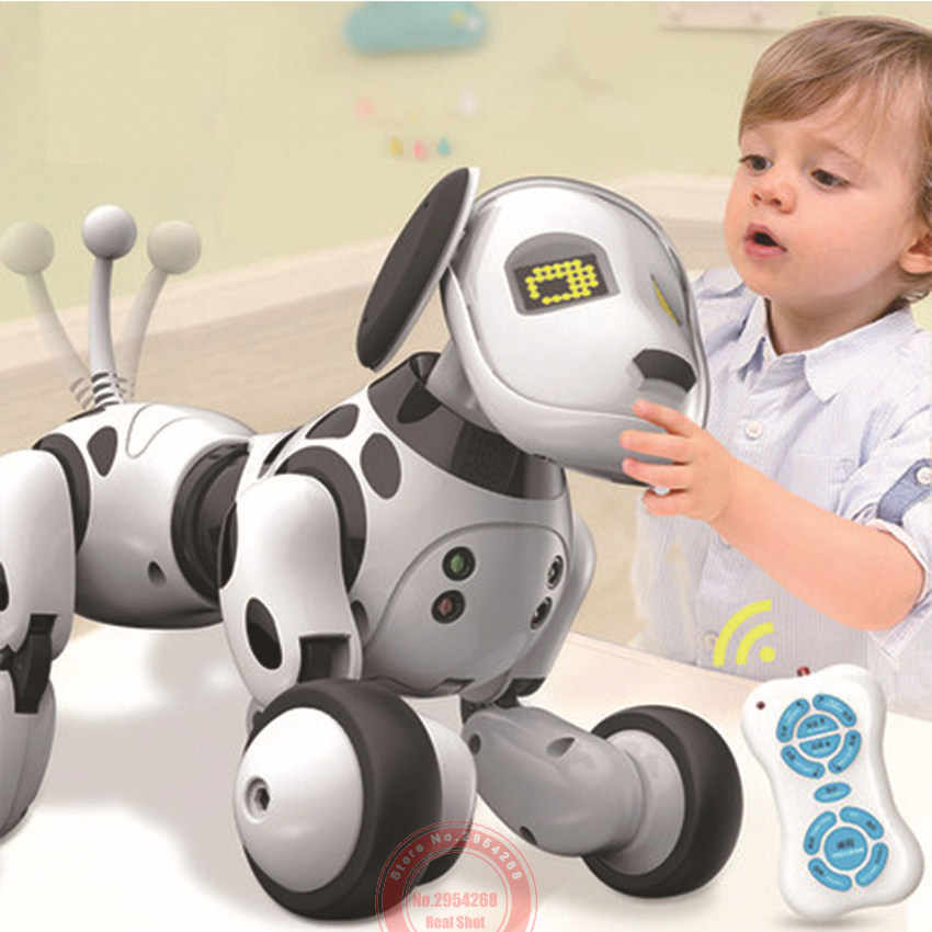 Baru Diprogram 2.4G Wireless Remote Control Smart Robot Anjing Mainan Cerdas Berbicara Robot Dog Toy Elektronik PET Anak hadiah