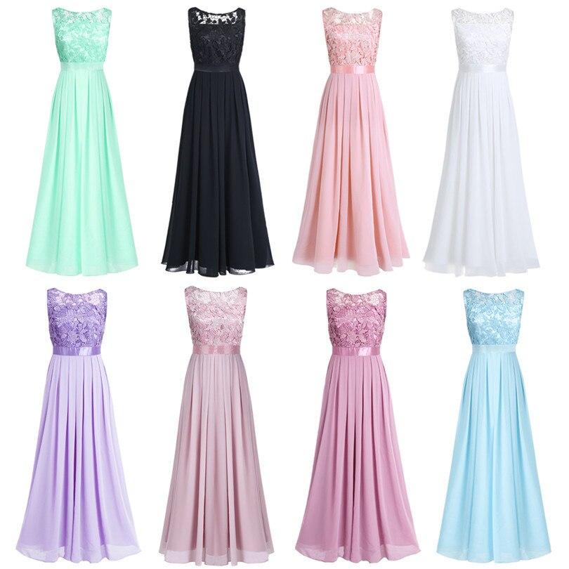 c7b6da2af7 TiaoBug Lace Bridesmaid Dresses Long 2017 New Designer Chiffon Beach Garden  Wedding Party Formal Junior Women Ladies Tulle Dress