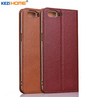 OnePlus 5 Case KEZiHOME Genuine Leather Flip Stand Leather Cover Capa For One Plus 5 OnePlus5