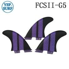 Surf fins G5 fcs 2 Surfboards FCSII Fin Honeycomb Fiberglass surf color